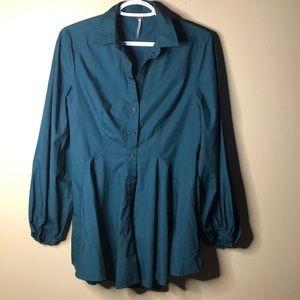 Free people tunic length dress shirt